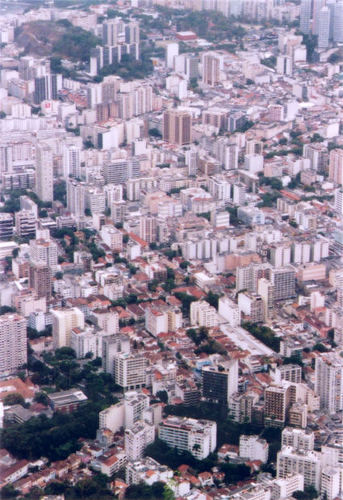 -- city houses pink rio brazil overview statue janeiro monochrome christ purple flight