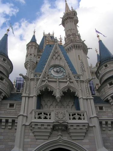 -- disney castle tower