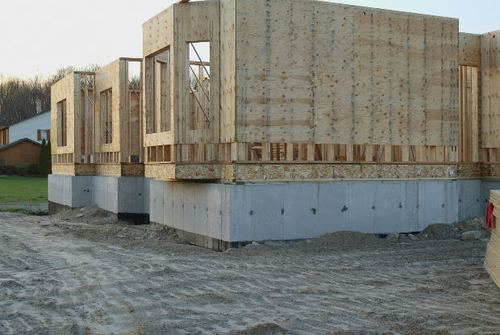 -- new building real lumber estate plywood house build gravel construction builder mls