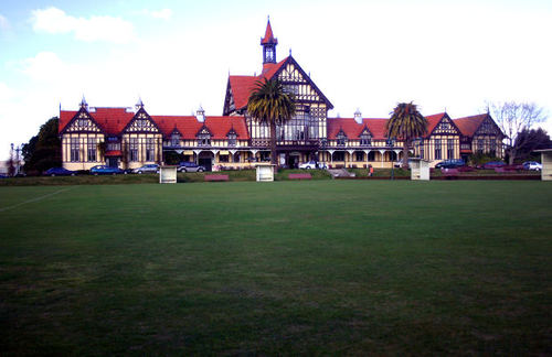 -- building garden towers landmark zealand hospital spa tudor rotorua zealand' government construction