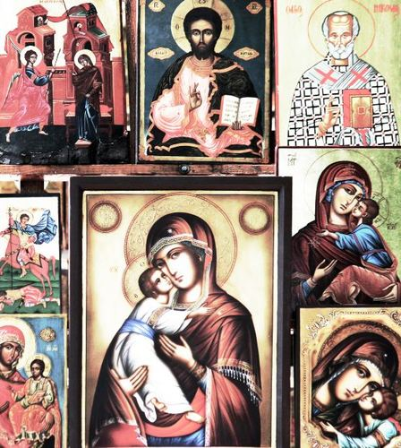 -- sweetness folded artwork iconography concept christianity jesus tenderness symbol metal biblical mother