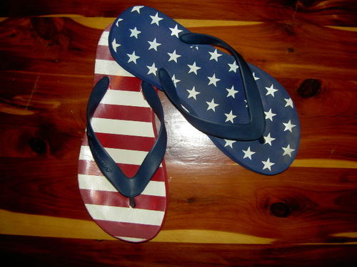 -- summer flip patriotic flops thongs